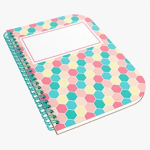 3D model Notebook with spiral 05