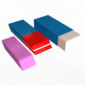 3D model Erasers