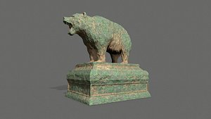 Bear Statue 7 3D model
