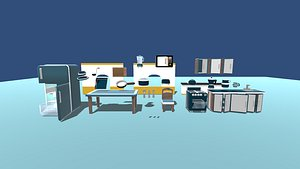 Kawaii House Interior Pack - Kitchen 3D