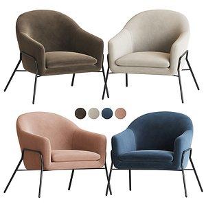 irma accent armchair 3D model