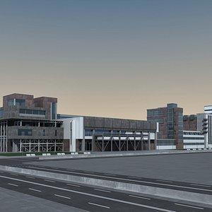 Modern Building 132 Scene 3D model