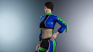 girl sport 3D model