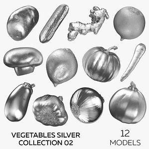 3D Vegetables Silver Collection 02 - 12 models