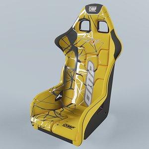 3D OMP WRC-R ART Racing Seat Yello