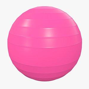 3D Pilates Ball v2 with Pbr 4K 8K model