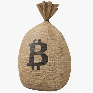 3D model Money Bag v4 Bitcoin with Pbr 4K 8K
