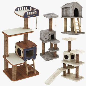 Pet Interior House 4 in 1 Collection model
