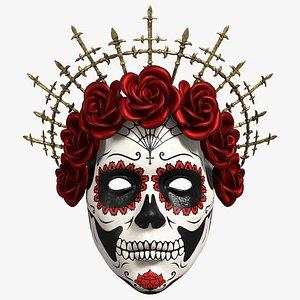 3D Santa Muerte Mask