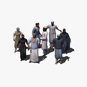arab rigged 3d model