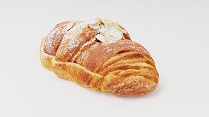 Croissant with almond creme 3D