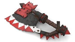 3D Orc Battle Axe 2 model
