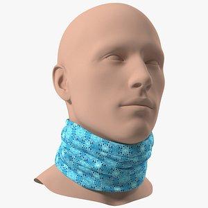 3D Multi Functional Neck Gaiter Blue