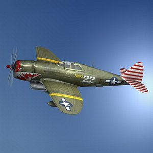 Republic P-47D Thunderbolt - 22 3D model