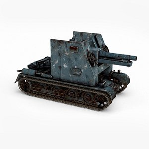 3D model Large combined tank during World War II