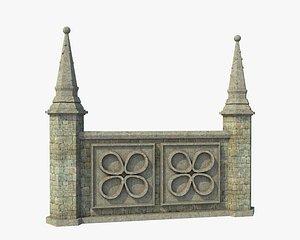 Fantasy Ancient Pillar Fence 3D