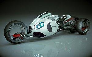T Bike 1 3 Wheel 02 3D model