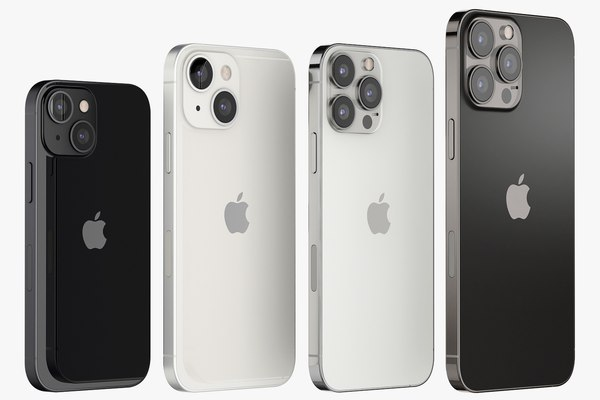 modelo 3d Apple iPhone 13 mini y 13 y 13 pro y 13 pro MAX - TurboSquid  1733360