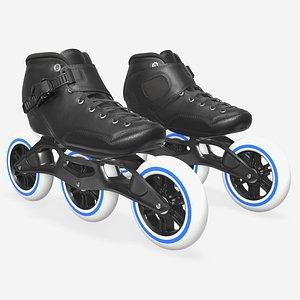 roller skates racing 3D