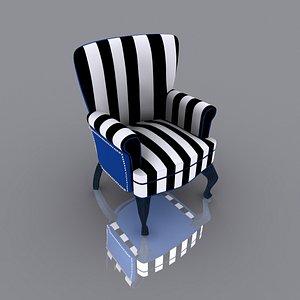 3D Sofa Single Seat