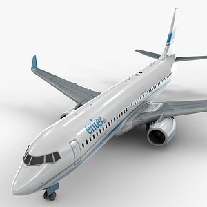 3D boeing 737-8 enter air model