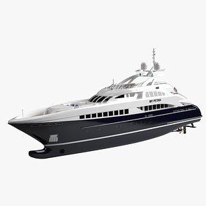 3D model My Petra Luxury Yacht Dynamic Simulation