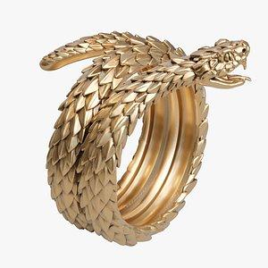 3D model snake ring viper