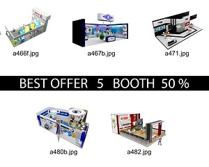 Booth Exhibition Stand c24 3D model