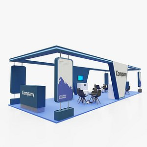 3D Exhibition stand 10