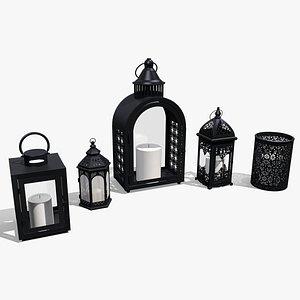 metal lanterns 3D model