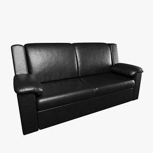black leather sofa model