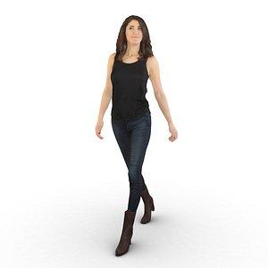 3D model hot lady walking