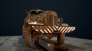 soviet army truck zil-157kd model