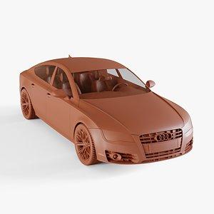 audi a7 sportback 3D model