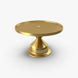 3D Cake Stand Gold