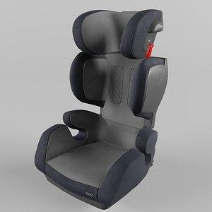 3D Recaro MAKO Children Car Seat Core Carbon Black model