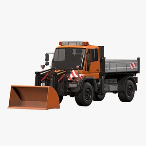 3D loader industrial unimog u500 model
