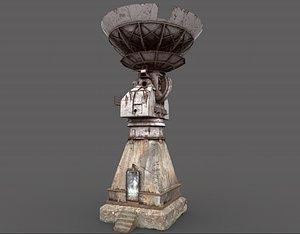 Old Radar Satellite Dish 3D model