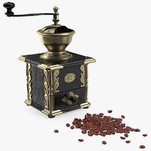 antique coffee grinder beans 3D model