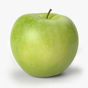 3D apple green scan model