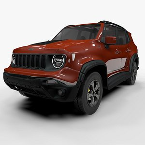 jeep renegade red trailhawk 3D model