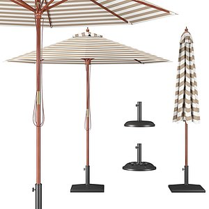 Parasol with Bases 2