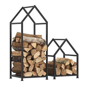 wood rack 3D model