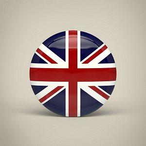 3D United Kingdom Badge