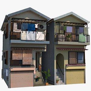 3D Terraced Houses