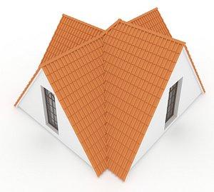 Realistic Roof Shingles 5 3D model