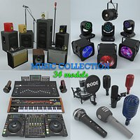 Music DJ Audio and light Instruments Collection