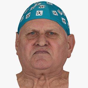 Homer Human Head Jaw Thrust AU29 RAW Scan 3D model