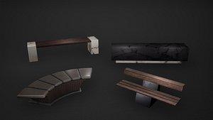 bench seat 3D