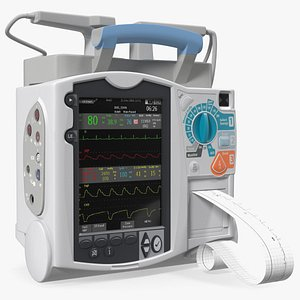 3D Semi Automatic External Defibrillator with Monitor